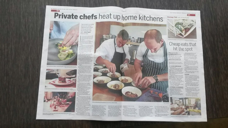 Zest – Private chefs heat up home kitchens